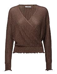 Crossover sweater - RUST - COPPER