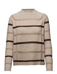 Metallic striped sweater - LT PASTEL GREY