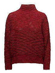 Chunky-knit sweater - RUST - COPPER
