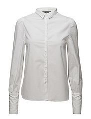 Puffed sleeves shirt - WHITE