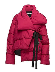 Ring oversize quilted coat - BRIGHT PINK