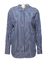 Striped piercing shirt - NAVY