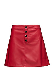 Contrast buttons skirt - RED