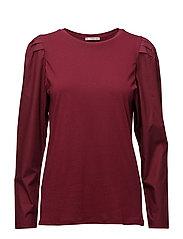 Puffed sleeves t-shirt - DARK RED