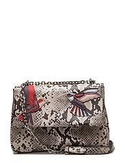 Embroidery snake-effect bag - GREY
