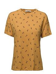 Printed cotton t-shirt - MEDIUM YELLOW