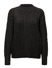 Pearls knitted sweater - DARK GREY