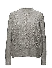 Pearls knitted sweater - LT PASTEL GREY