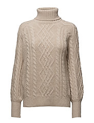 Cable-knit sweater - MEDIUM BROWN