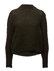 High collar wool sweater - BEIGE - KHAKI