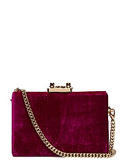 Velvet coffer bag - RED