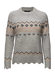Rhombus design sweater - MEDIUM GREY