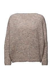 Dolman-sleeve sweater - LT-PASTEL PINK