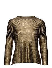Metallic finish sweater - GOLD