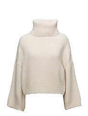 Turtle neck sweater - LIGHT BEIGE