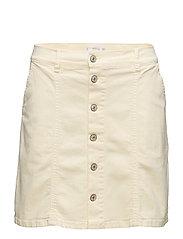 Buttoned denim skirt - YELLOW