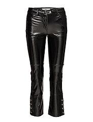Piercing vinyl trousers - BLACK