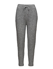 Flecked baggy trousers - MEDIUM GREY