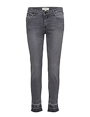 Faded slim jeans - OPEN GREY