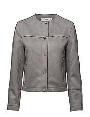 Suede effect jacket - GREY