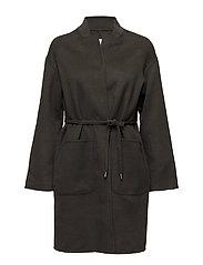 Belt handmade coat - BEIGE - KHAKI