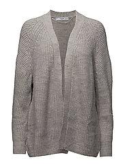 Chunky knit cardigan - LT PASTEL GREY