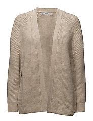 Chunky knit cardigan - MEDIUM BROWN