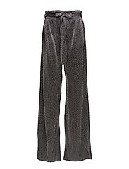 Metallic pleated trousers - SILVER