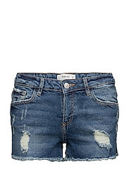 Ripped-detail denim shorts - OPEN BLUE