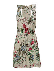 Floral wrap dress - NATURAL WHITE