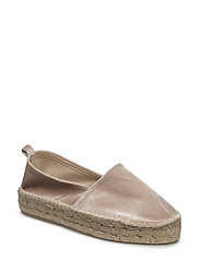 Velvet espadrilles - LIGHT BEIGE