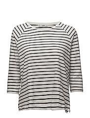 Essential cotton-blend t-shirt - NATURAL WHITE