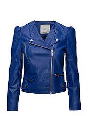 Puffed sleeves jacket - MEDIUM BLUE
