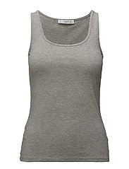 Strap cotton t-shirt - MEDIUM GREY