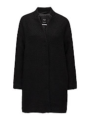 Oversize wool coat - BLACK
