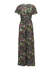 Floral print jumpsuit - GREEN