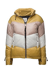 Tricolor quilted jacket - MEDIUM YELLOW