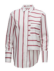 Striped pearls shirt - WHITE