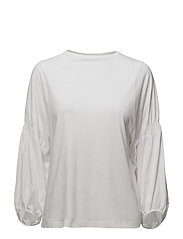 Ruched detail t-shirt - WHITE