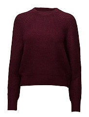 Chunky-knit sweater - DARK RED