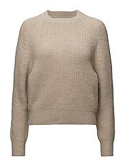 Chunky-knit sweater - MEDIUM BROWN