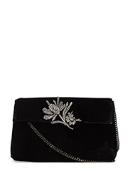 Velvet bead bag - BLACK