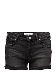 Black denim shorts - OPEN GREY