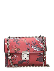 Pebbled chain bag - RED