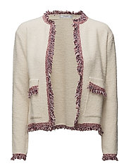 Frayed edges cardigan - LIGHT BEIGE