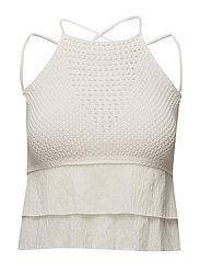 Crochet top - NATURAL WHITE