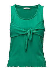 Knot detail ribbed top - GREEN
