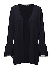 Flared sleeve cardigan - NAVY