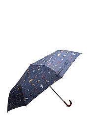 Mixed print umbrella - NAVY