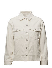 Buttoned corduroy jacket - LIGHT BEIGE